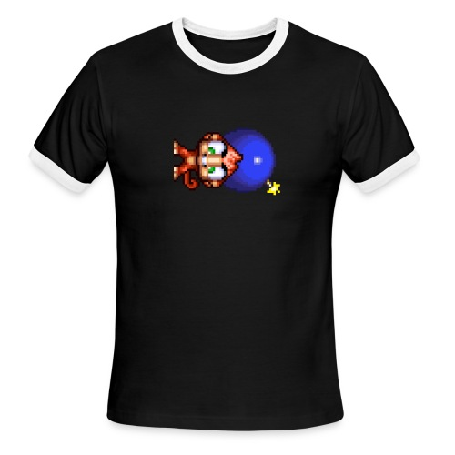 Bomb Monkey - LEFT IS THE NEW DOWN - Men's Ringer T-Shirt
