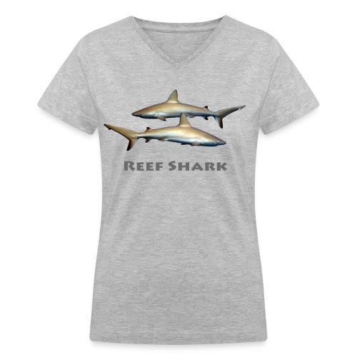 Reef Sharks - Women's V-Neck T-Shirt