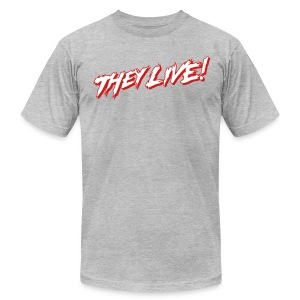 THEY LIVE (AA HEATHER GREY) - Men's T-Shirt by American Apparel