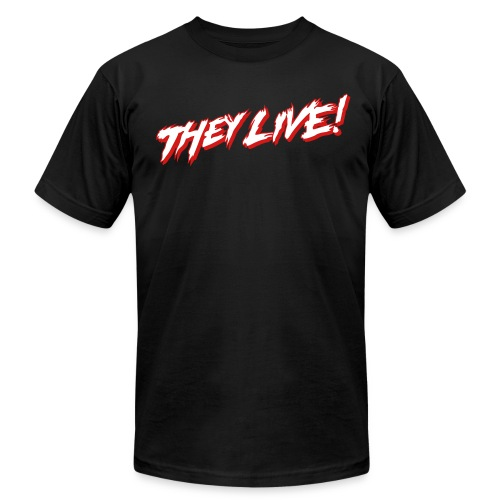 THEY LIVE (AA BLACK) - Men's  Jersey T-Shirt