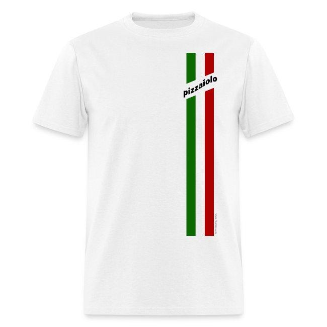 Italian racing Tshirt - for pizza maker - Italian Stripes Pizzaiolo