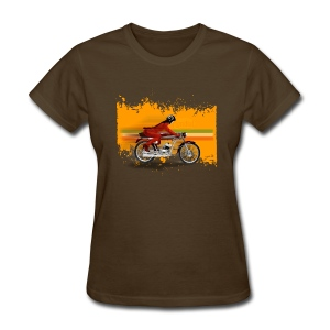 cafe racer girl [front] - Women's T-Shirt