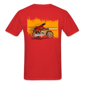 cafe racer girl [back] - Men's T-Shirt