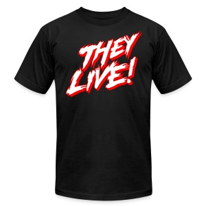 They Live Stacked (AA BLACK) - Men's T-Shirt by American Apparel