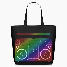 Rainbow Ghetto Blaster Bags
