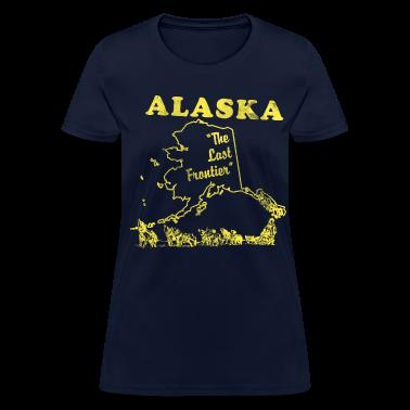 Alaska, the last frontier vintage womens t-shirt