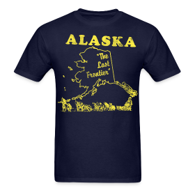Alaska, The Last Frontier vintage mens t-shirt ~ 351