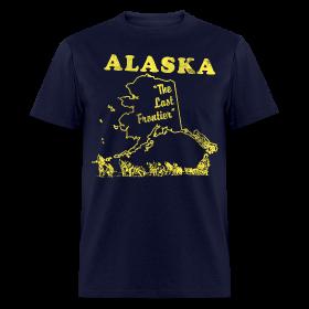 Alaska, The Last Frontier vintage mens t-shirt ~ 351