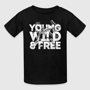 young wild and free - Kids' T-Shirt
