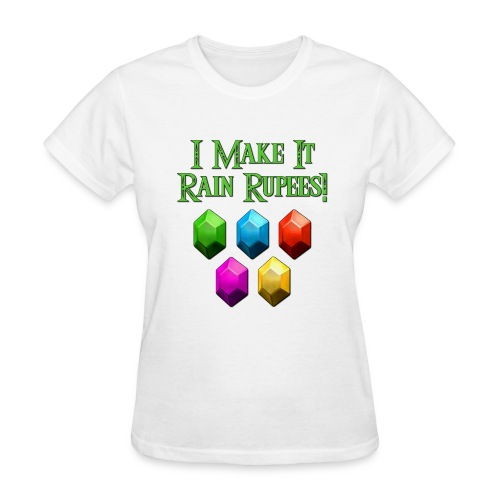 Make It Rain Rupees (womens) - Women's T-Shirt