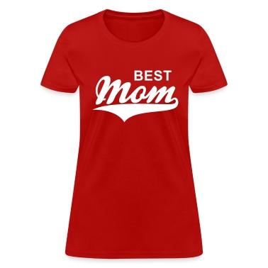BEST Mom Tail-Design T-Shirt WR