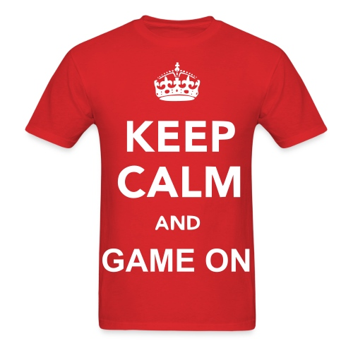 Keep Calm and Game on Mens Shirt - Men's T-Shirt