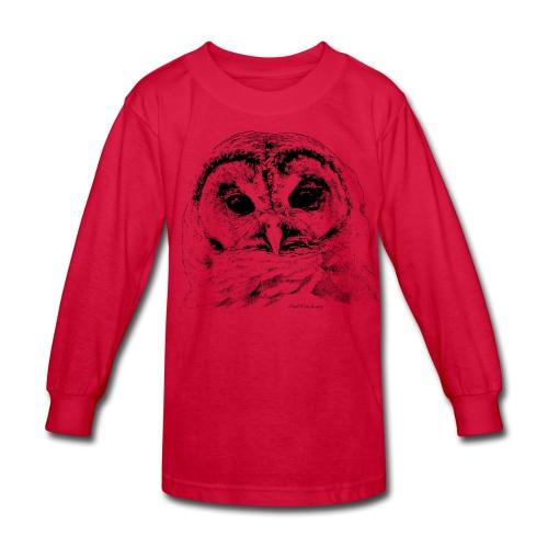 Barred Owl 4653 - Kids' Long Sleeve T-Shirt