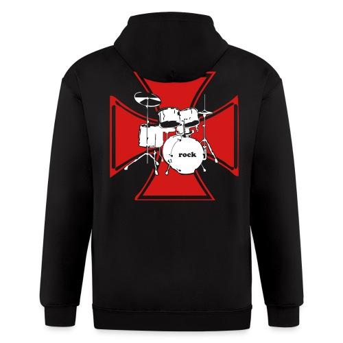 Sweat DrumCross - Men's Zip Hoodie