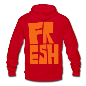Freshman - Unisex Fleece Zip Hoodie by American Apparel