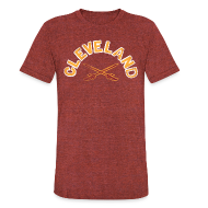 T-Shirts ~ Unisex Tri-Blend T-Shirt by American Apparel ~ CLEVELAND CAV