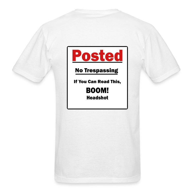Boom! Headshot (on back) - Men's T-Shirt