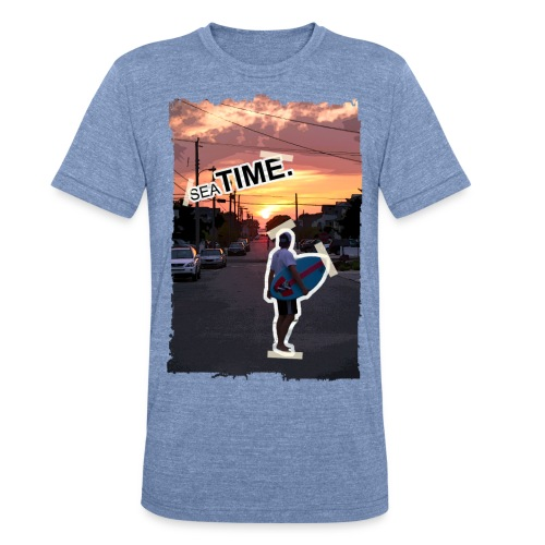 Sea Time 'Paste Effect' - Unisex Tri-Blend T-Shirt