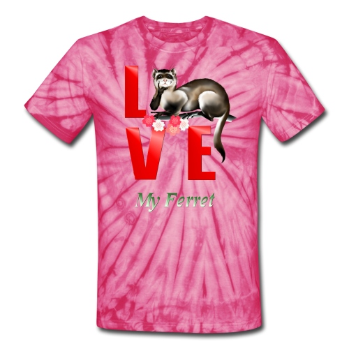 Love Ferret - Unisex Tie Dye T-Shirt