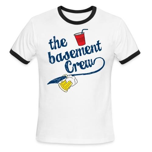 The Basement Crew Softball Team Ringer T-Shirt - Men's Ringer T-Shirt
