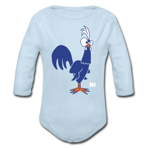 Rooster - Long Sleeve Baby Bodysuit