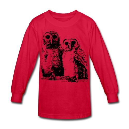 Owlets img0189 - Kids' Long Sleeve T-Shirt