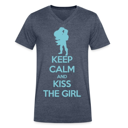 Kiss the Girl - Men's V-Neck T-Shirt by Canvas