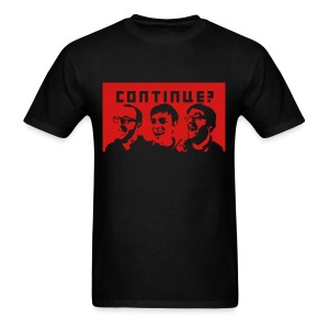 Continue? Crew with Red Background - Men's T-Shirt