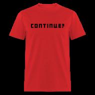 T-Shirts ~ Men's T-Shirt ~ Continue Logo Black