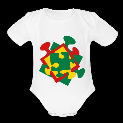 Autism - Organic Short Sleeve Baby Bodysuit