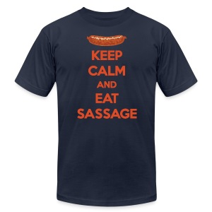Keep Calm And Eat Sassage - Men's T-Shirt by American Apparel