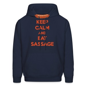 Keep Calm And Eat Sassage - Men's Hoodie