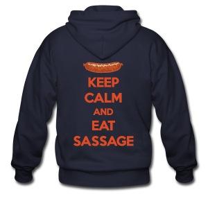 Keep Calm And Eat Sassage - Men's Zip Hoodie