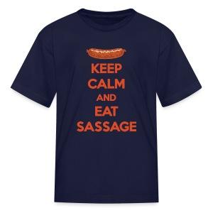 Keep Calm And Eat Sassage - Kids' T-Shirt