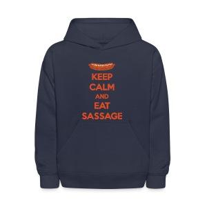 Keep Calm And Eat Sassage - Kids' Hoodie