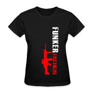 Women's T-Shirts ~ Women's T-Shirt ~ woman's funker tactical scar t-shirt
