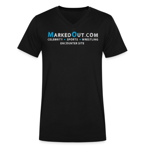 Marked Out Black V-Neck - Men's V-Neck T-Shirt by Canvas