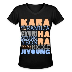 [KARA] Members and Fans - Women's V-Neck T-Shirt