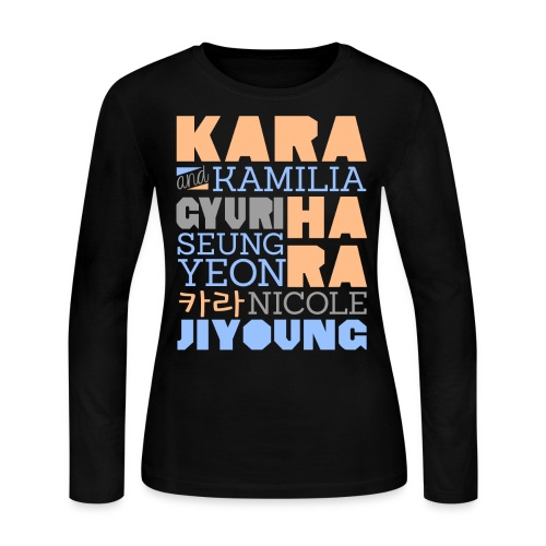 [KARA] Members and Fans - Women's Long Sleeve Jersey T-Shirt