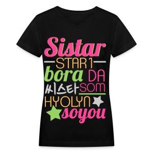 [SISTAR] The Sistars - Women's V-Neck T-Shirt