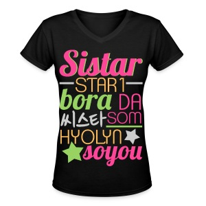 [SISTAR] The Sistars - Women's V-Neck T-Shirt