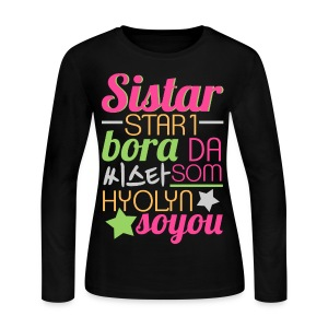[SISTAR] The Sistars - Women's Long Sleeve Jersey T-Shirt