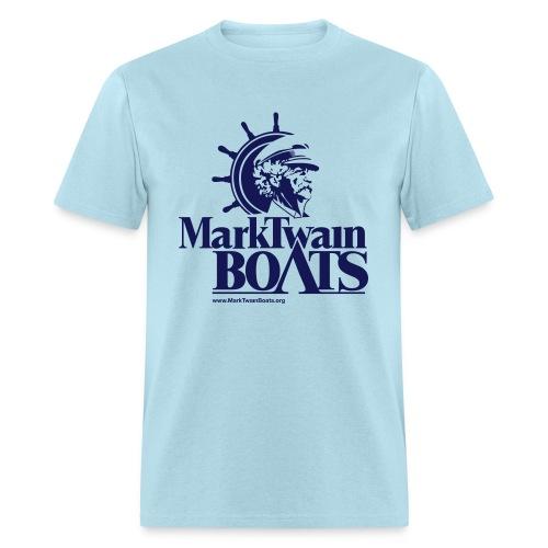 MTB Vintage - Aqua/Navy - Men's T-Shirt