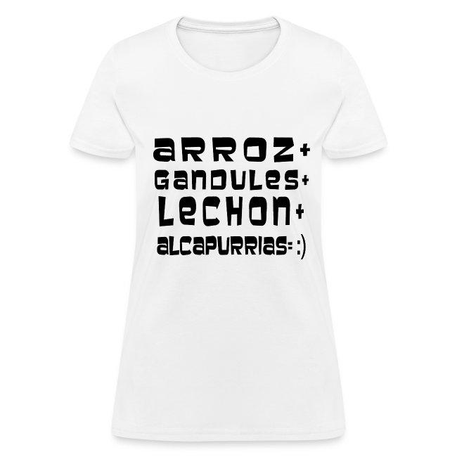 ARROZ+ GANDULES+ LECHON+ ALCAPURRIAS= :) MUJER