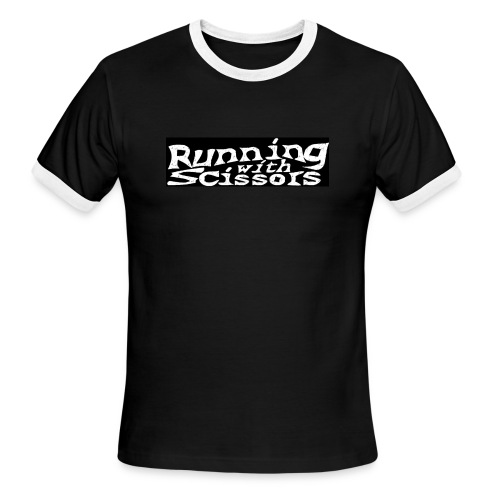 Men's Ringer T-Shirt - Darker Black Around Design Does Not Print)