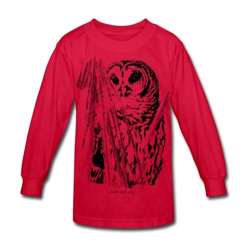 Owl & Palms - Kids' Long Sleeve T-Shirt