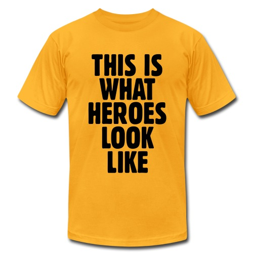 This is what heroes look like - Men's Fine Jersey T-Shirt