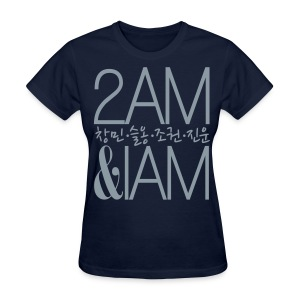 [2AM] IAm 2AM (Metallic Silver) - Women's T-Shirt
