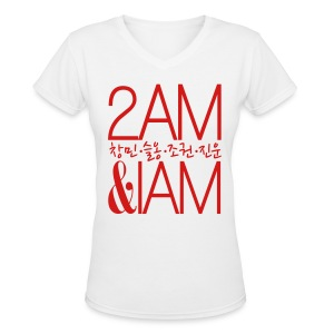 [2AM] IAm 2AM - Women's V-Neck T-Shirt
