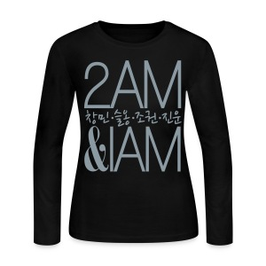 [2AM] IAm 2AM (Metallic Silver) - Women's Long Sleeve Jersey T-Shirt